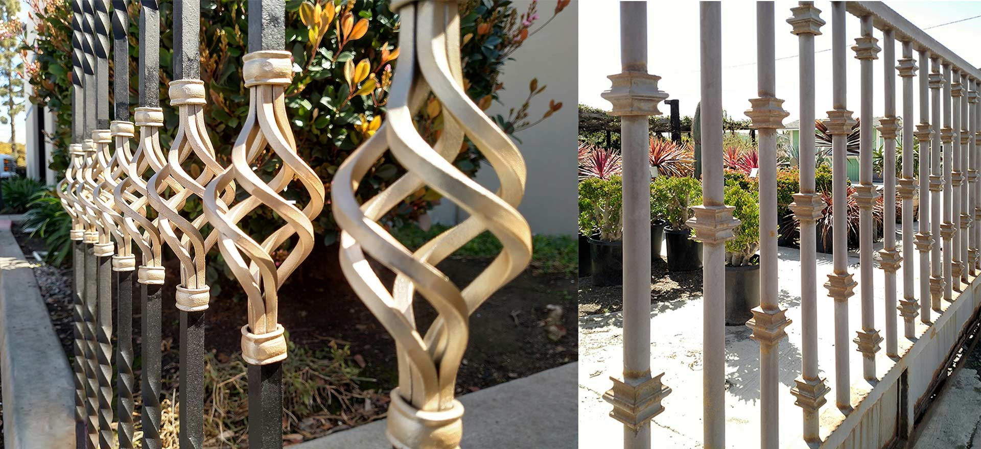 Balusters and Pickets, Belly, Forged, Hammered, Posts, Tube and Fluted, Twisted, Wave Design. Wide variety and Excellent Quality from Superior Ornamental Supply.