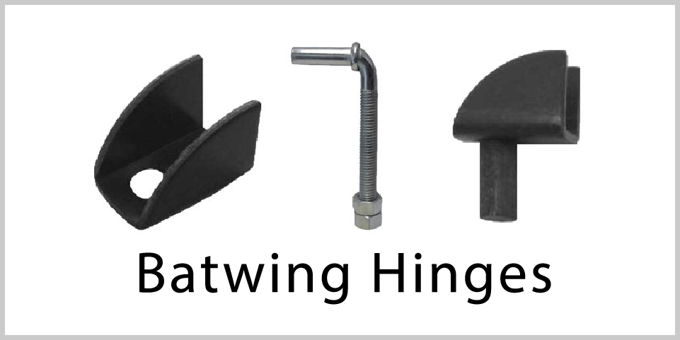 Hinges- Batwing Hinges.  Wide variety and Excellent Quality from Superior Ornamental Supply.