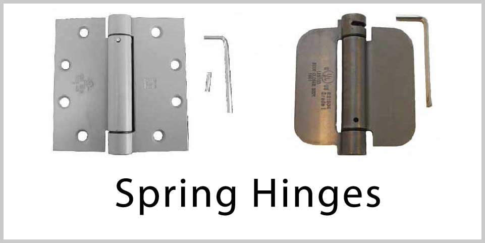 Hinges - Spring Hinges. Wide variety and Excellent Quality from Superior Ornamental Supply.