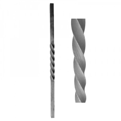 Forged Newel Posts 64-102 - With a center twist.