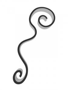 Flat Bar Scroll - Custom Art Nouveau Wrought Iron Scroll FCSA-03 Superior Ornamental Supply