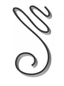 Flat Bar Scroll - Custom Art Nouveau Wrought Iron Scroll - FCSA-07 Superior Ornamental Supply
