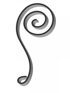 Flat Bar Scroll - Custom Newport Wrought Iron Scroll - FCSN-04 Superior Ornamental Supply