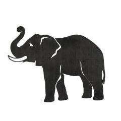 Cut Steel Elephant