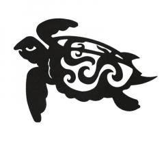 "Cut Steel  Sea Turtle SEAT12"""