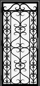 Steel Security Screen Door - DFS_14.0_REG