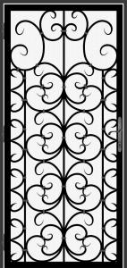 Steel Security Screen Door - DFS_15.0_REG