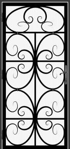 Steel Security Screen Door - DFS_16.0_REG