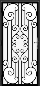 Steel Security Screen Door - DFS_2.0_REG