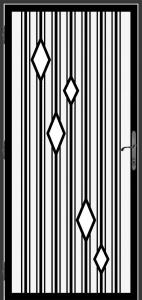 Steel Security Screen Door - DFS_26.5_REG