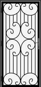 Steel Security Screen Door - DFS_9.0_REG