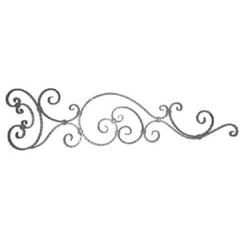 Forged Steel Wrought Iron Scroll Panels 70-200