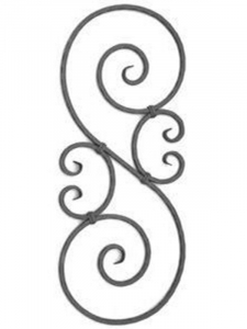 Forged Steel Wrought Iron Scroll Panels 70-220