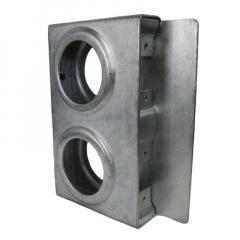 Lock Box - Double Slim Zinc - LBDSZ