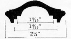 Molded Steel Caprail 25-206