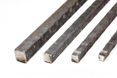 Hammered square bar - On the flat - 20 ft. length - Price varies with size.