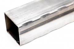 Machine hammered square tube - hammered 4 corners 20 ft. and 24 ft. long pieces.