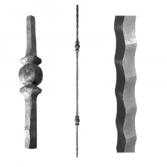 Forged Balusters & Pickets SUI105-1 - With two single ball ornament