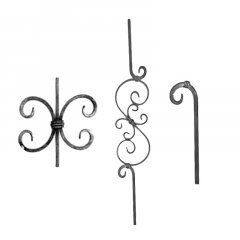 Baluster & Pickets SUI12065 - With ornamental scrolls
