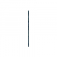 """Forged Newel Posts 64-108 - Hammered 1"""" square bar with a center twist and knuckles."""