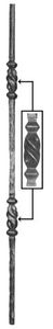 Forged Balusters & Pickets 64-312 - With two twisted ornamental pieces.
