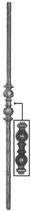 Forged Balusters & Pickets 64-430 - With two-ball and collar ornamental detail in the center.