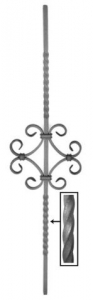 Twisted Pickets 65-526 - With a scroll ornament