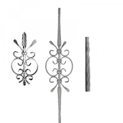 Hammered Pickets SUI64-G-2 - Hammered 4 corners and an ornamental design in the middle.