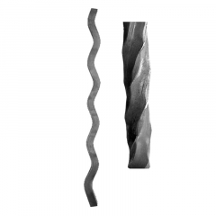 Wave Design Hammered 4 corners Twisted Balusters & Pickets SUI70-D-1HT