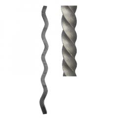 Wave design twisted square bar SUI70-D-1T