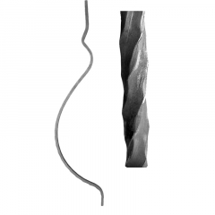 Point and a Foot Hammered Twisted Square Bar Balusters & Pickets SUI70-D-5PFHT