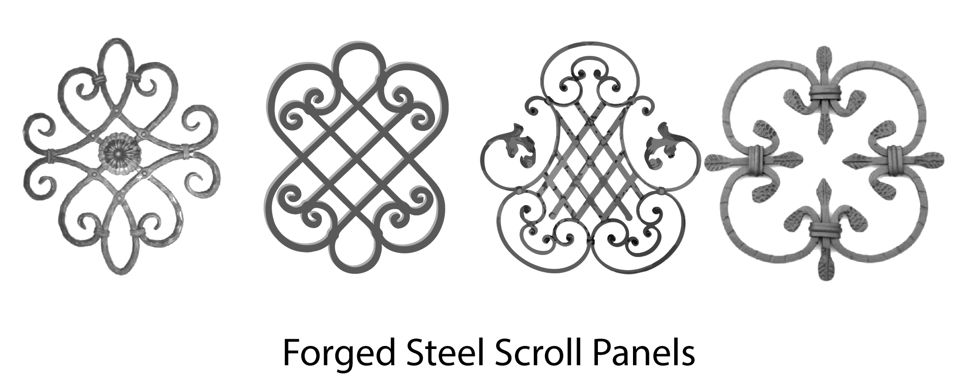 Wrought Iron Scrolls, Forged Steel Scroll Panels. Wide variety and Excellent Quality from Superior Ornamental Supply.