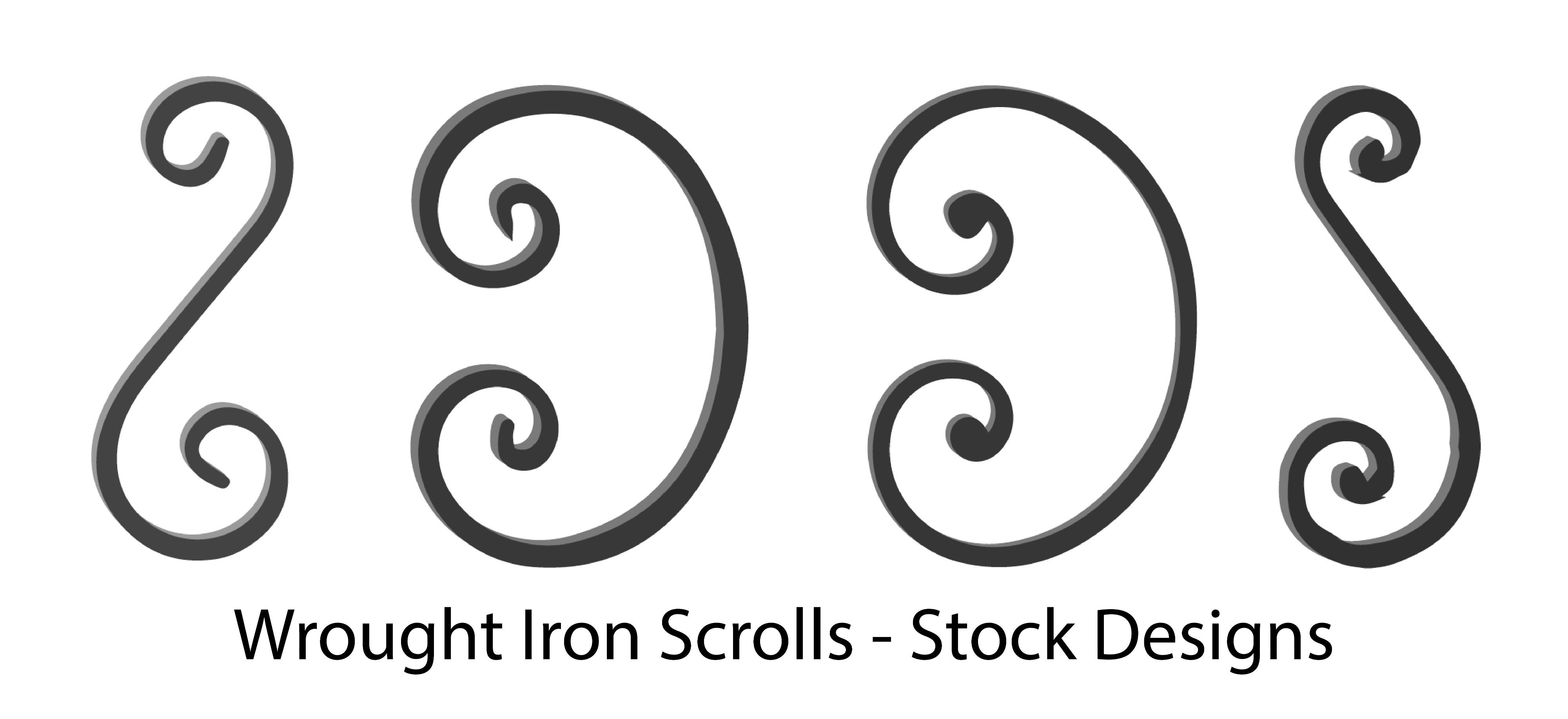 Wrought Iron Scrolls, Forged Steel Scrolls. Wide variety and Excellent Quality from Superior Ornamental Supply.